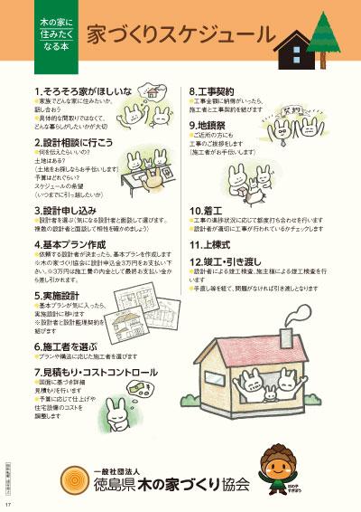 木の家に住みたくなる本「家づくりのスケジュール」